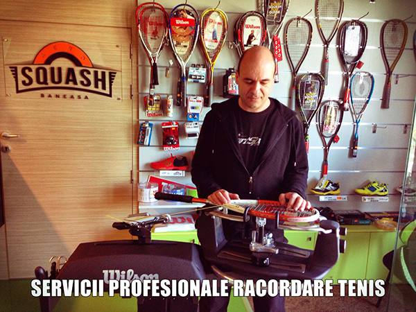 racordare rachete de squash